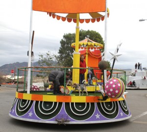 front of float